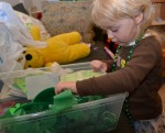 exploring st patricks sensory box