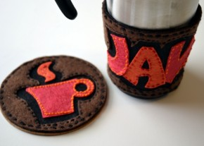 coffee embroidery kit