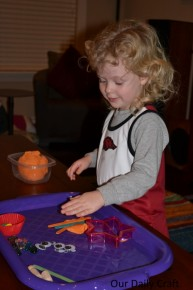 halloween playdough play