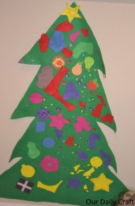 felt christmas tree