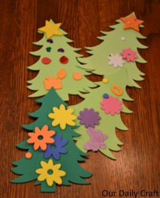 foam christmas tree craft