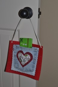jeans heart pocket