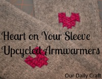 heart on your sleeve upcycled armwarmers