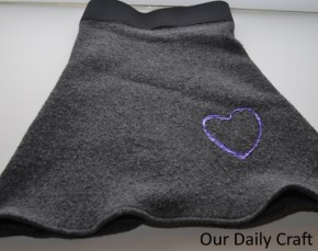 A Fleece Skirt with Heart {Iron Craft Challenge}
