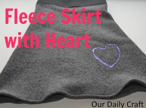 fleece skirt sewing pattern