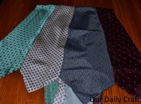 Turn Ties into Fabric {Iron Craft &#8217;13 Challenge}