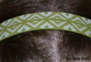 elastic headband diy