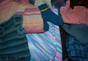 knitting book samples